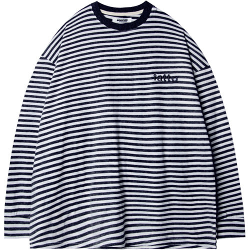 M#1526 irregular stripe tee (navy)