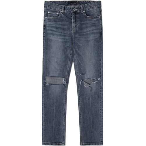 M#1527 nemo cut slim crop jeans