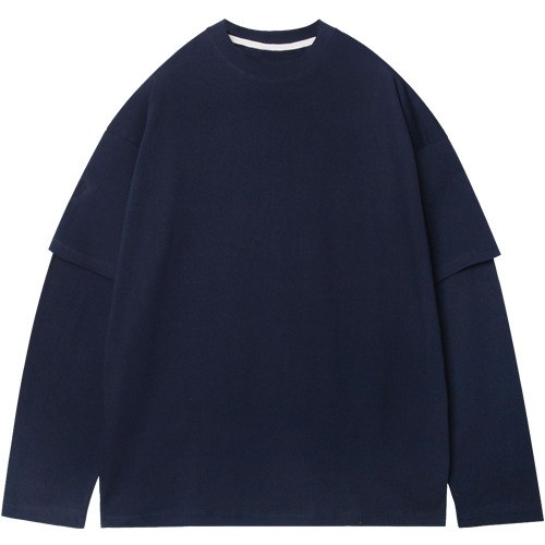 M#1536 layered sleeve tee (navy)