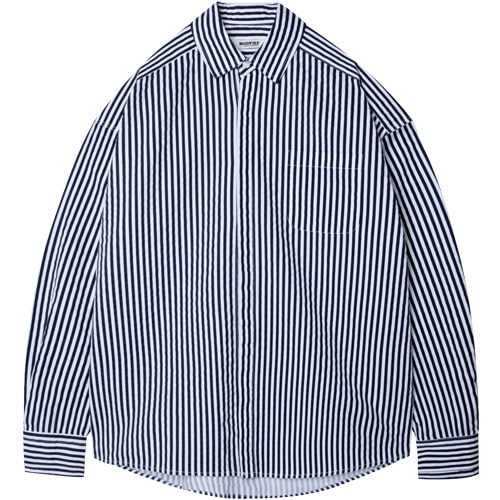 M#1538 structure hidden shirt (stripe)