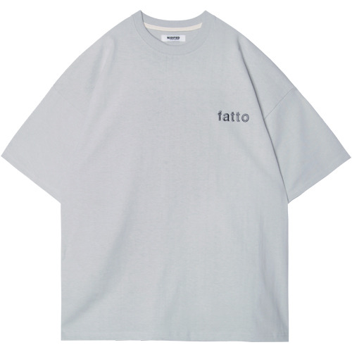 M#1541 fatto embroiery tee (light grey)