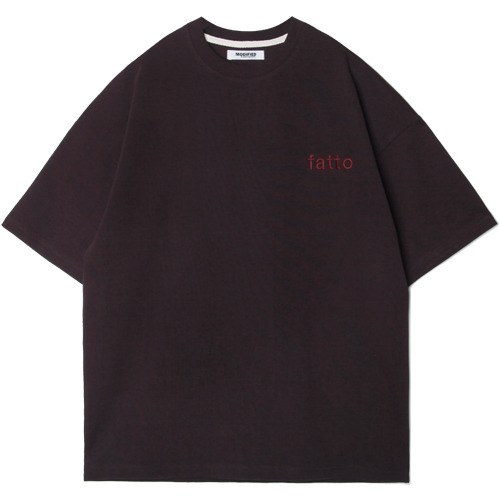 M#1542 fatto embroiery tee (purple)