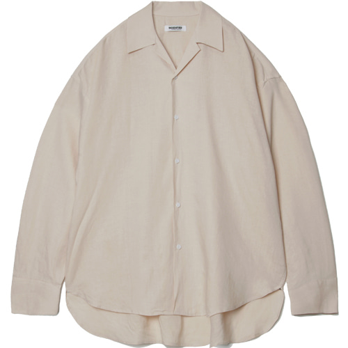 M#1554 tencel linen over shirt (beige)
