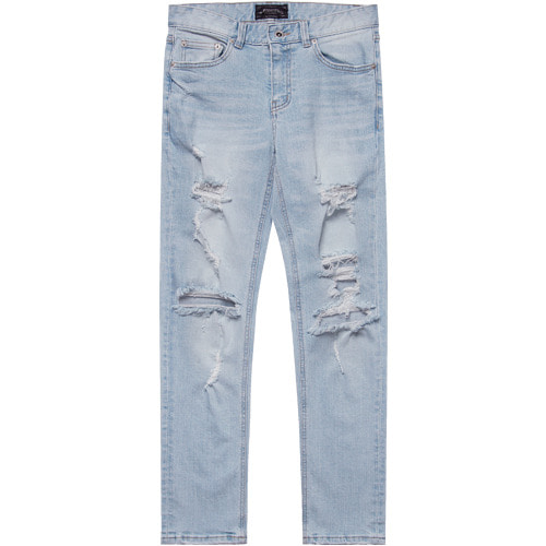 M#1556 wake destoryed slim jeans
