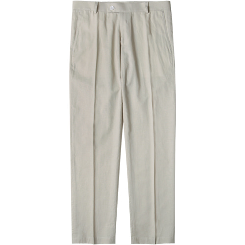 M#1562 linen set-up slacks (ivory)