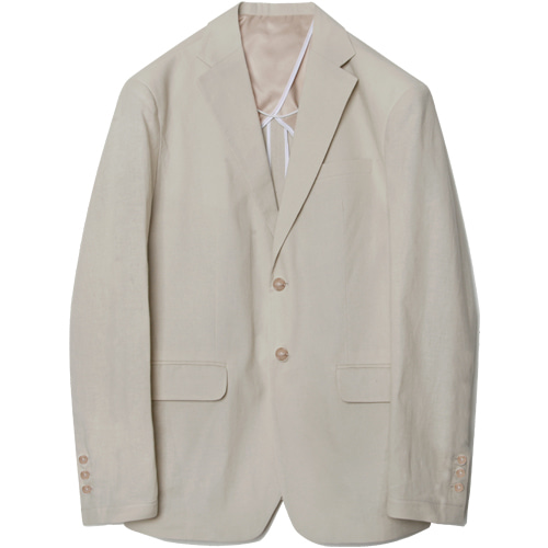 M#1566 linen set-up blazer (ivory)