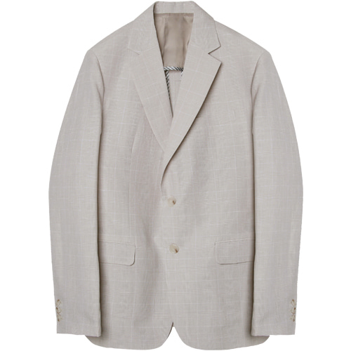 M#1568 linen glen set-up blazer (check iv)