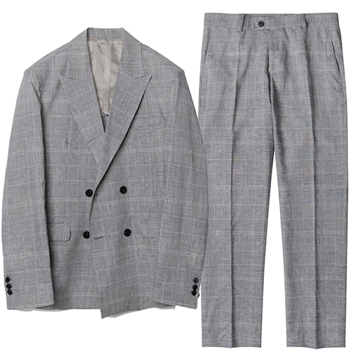 M#1579 set-up suit (blue check)