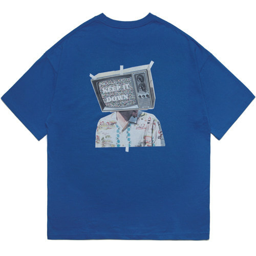 M#1596 tv graphic tee (blue)