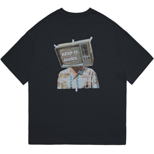 M#1597 tv graphic tee (black)