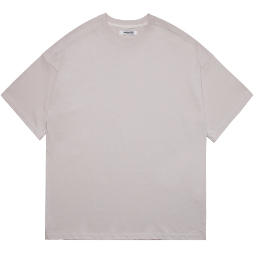 M#1602 premium cotton tee (mate beige)