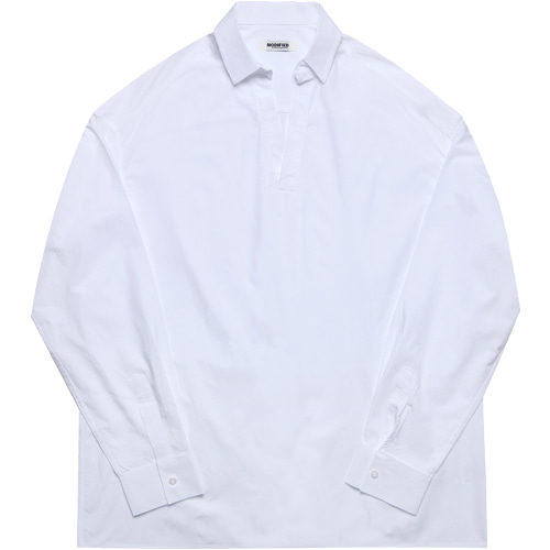 M#1606 collor tunic shirts (white)