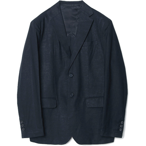 M#1612 linen set-up blazer (navy)
