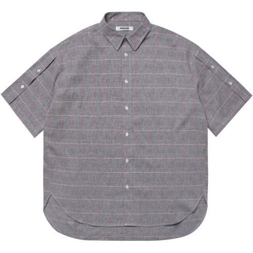 M#1614 open sleeve over shirt (grey)