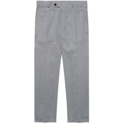 M#1615 h check linen slacks