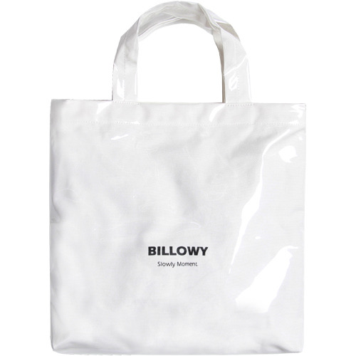 M#1617 pvc canvas bag (white)