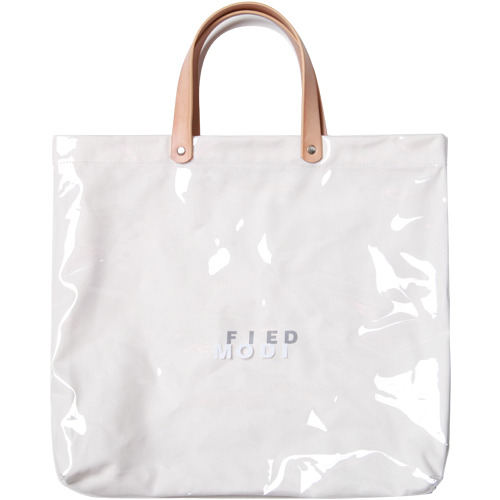 M#1620 clear pvc leather bag (leather white)