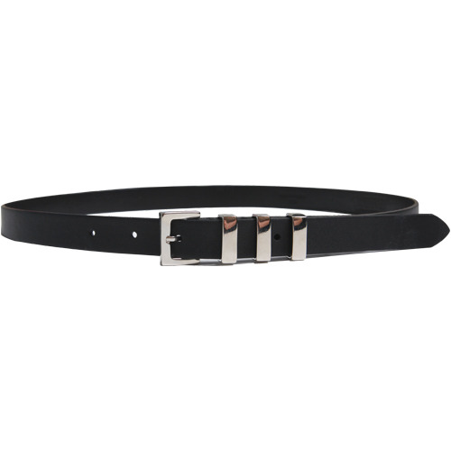 M#1624 3 metal italy leather belt