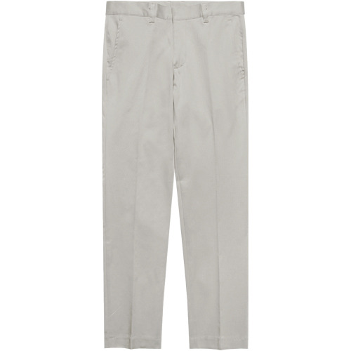M#1625 daily stretch cotton slim slacks (L.grey)