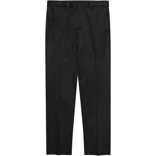 M#1626 daily stretch cotton slim slacks (black)