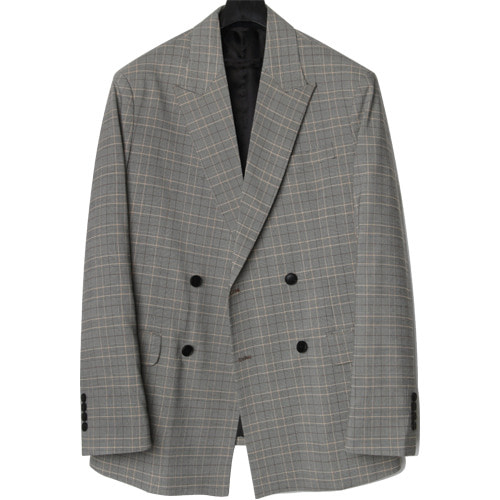M#1656 glad check double blazer (check)