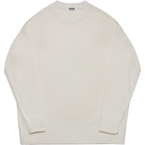 M#1645 heavy wool over knit (off white)