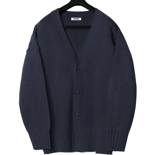 M#1652 850g heavy wool cardigan (navy)