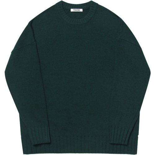 M#1646 heavy wool over knit (green)