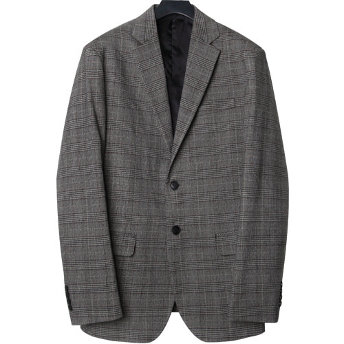 M#1665 glen check single blazer