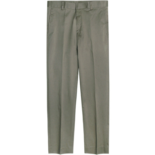 M#1664 smart washed cotton slim slacks (khaki)