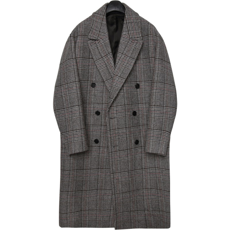 M#1688 tom wool double glen check coat