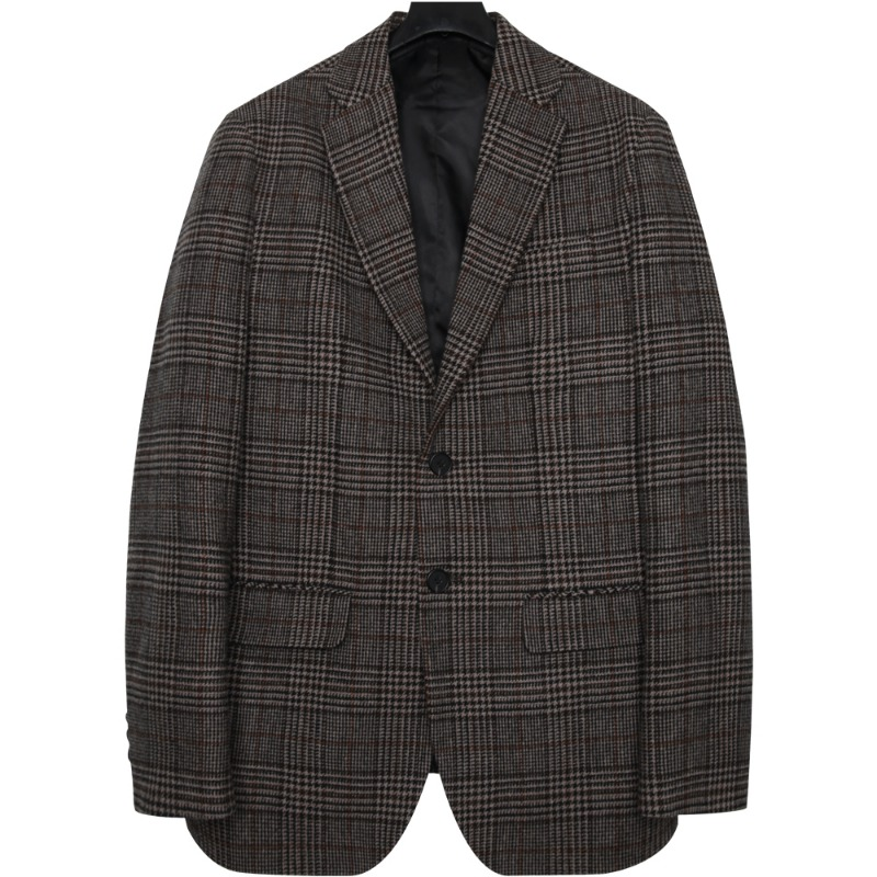 M#1690 winter glen check wool blazer