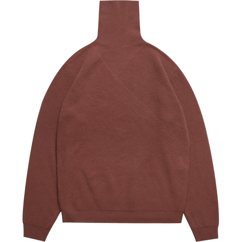 M#1692 cashmere turtleneck knit (brick)