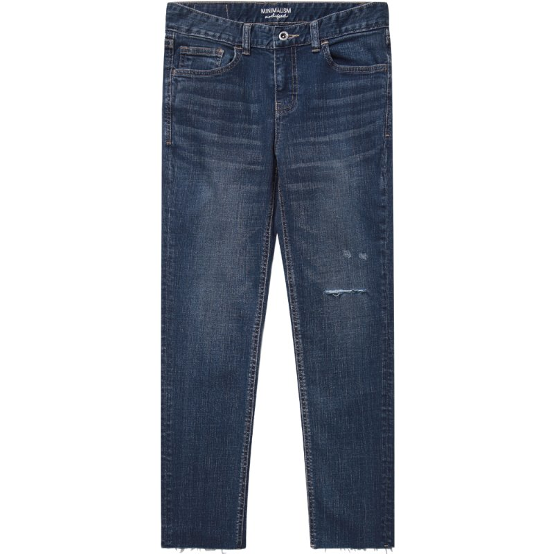 M#1706 ugly crop cutted jeans