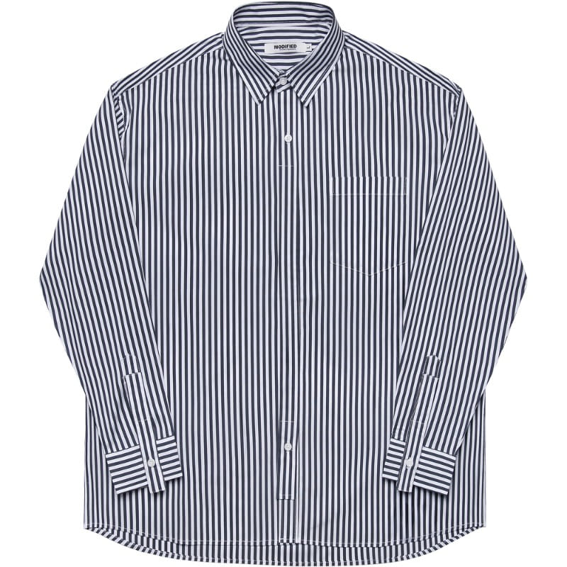 M#1719 painting layered shirt (stripe)