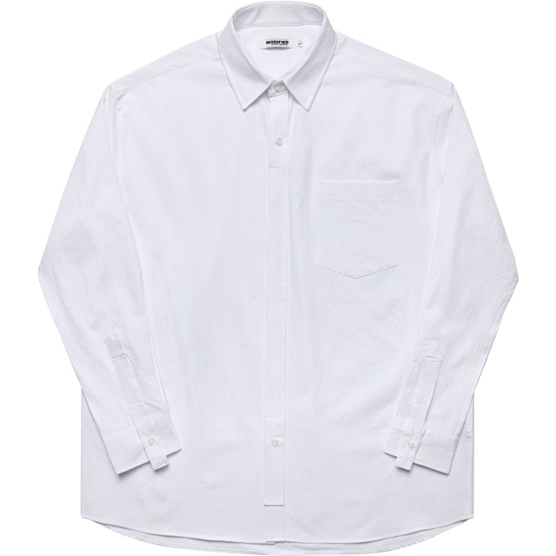 M#1720 painting layered shirt (white)