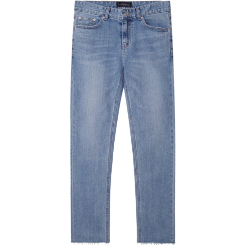 M#1726 bluewich cutted crop jeans