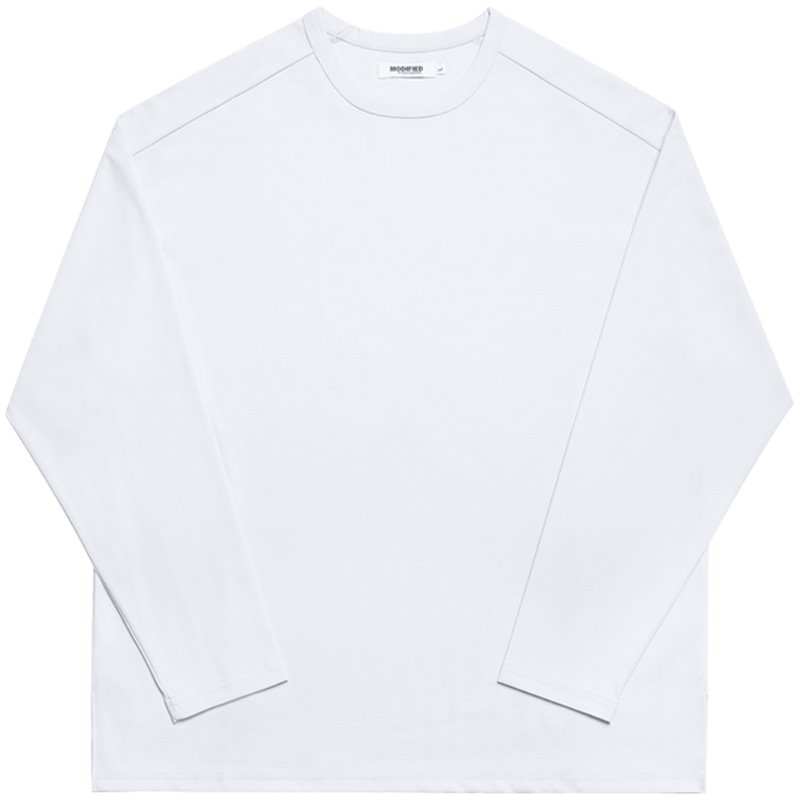 M#1733 premium cotton tencel slit tee (white)