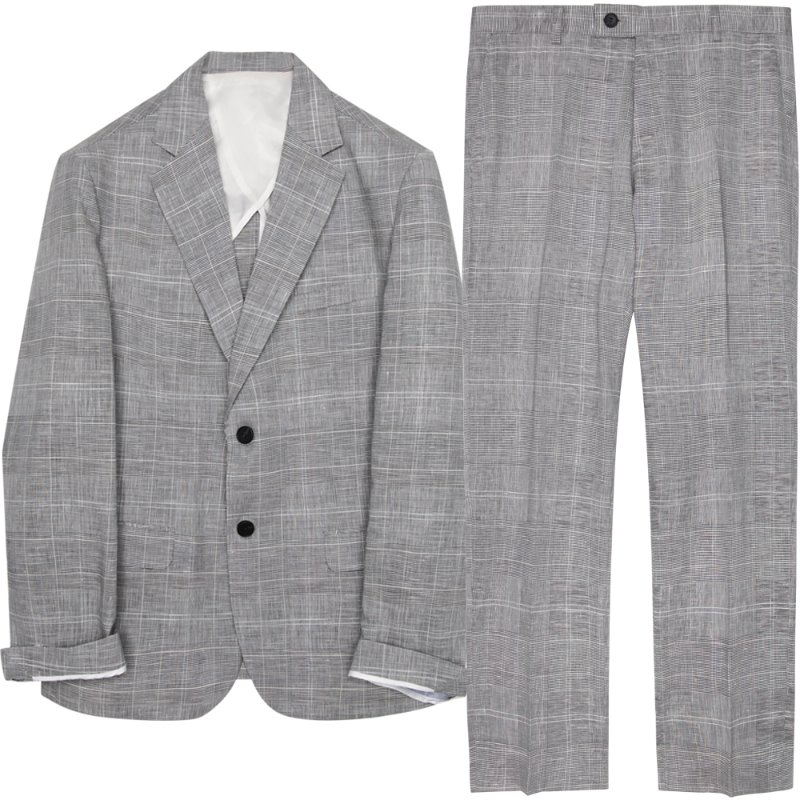 [여름용 린넨] M#1748 summer linen suit (check)