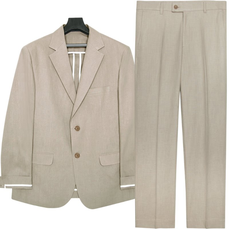 [여름용 린넨] M#1745 summer linen suit (beige)