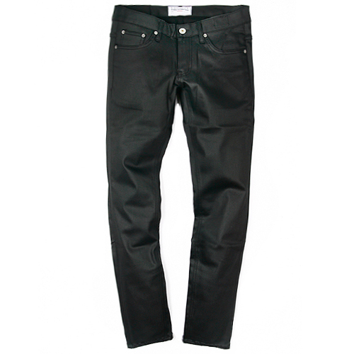M#0095 black coating jeans