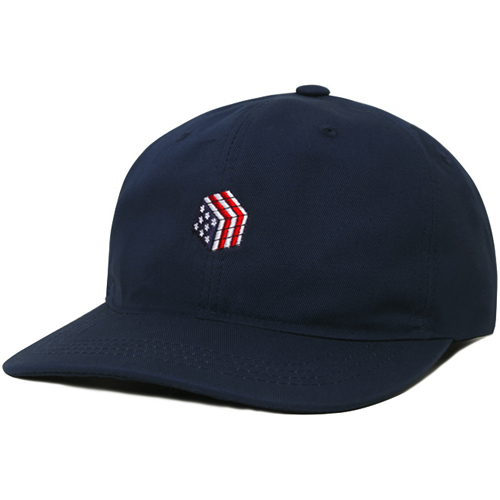 M#0667 modified 6panel cap (navy)