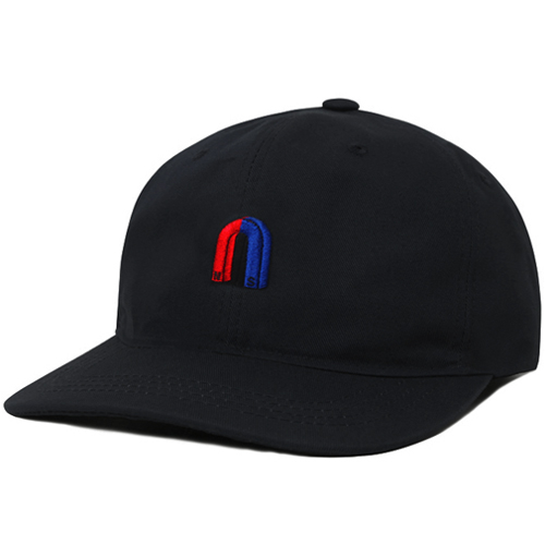 M#0836 modified 6panel cap (black)