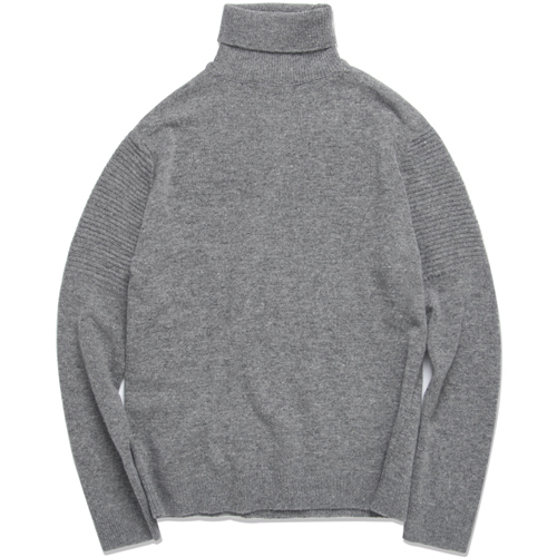 M#0847 lamswool turtleneck knit (grey)