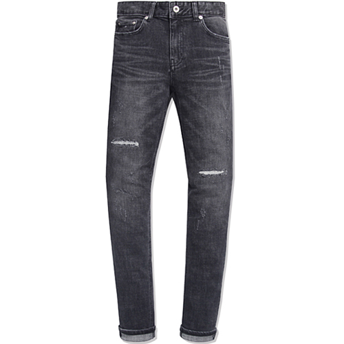 M#0724 invaildes black washed jeans