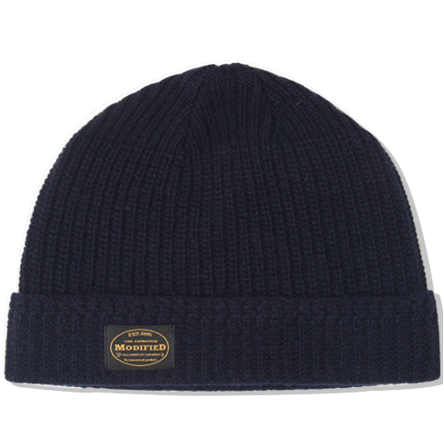 M#0871 lamswool beanie (navy)