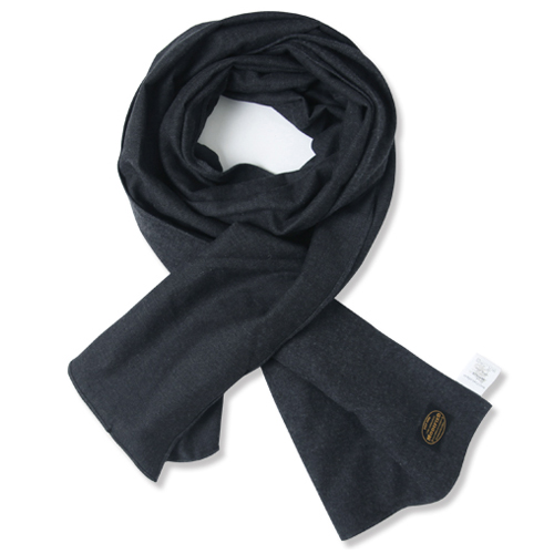 M#0875 modified cotton stole (navy)