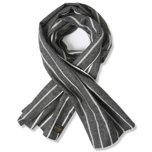 M#0876 modified cotton stole (stripe)